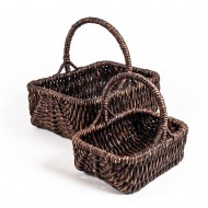 WWB-13007-Rectangular Water Hyacinth Basket (Set of 2)