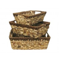 WWB-13009-Set of 3 Water Hyacinth Storage Tray